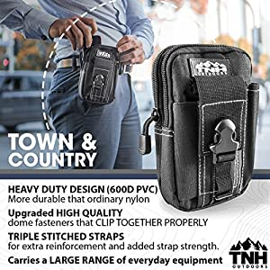 TNH Outdoors Tactical EDC Waist Pack Small Belt Bag Molle Cell Phone Pouch Ammo Holder