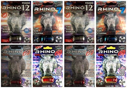 Rhino Best Sexual Male Performance Enhancement Pill Variety Pack (8 PIlls) Sexual Performance Pills