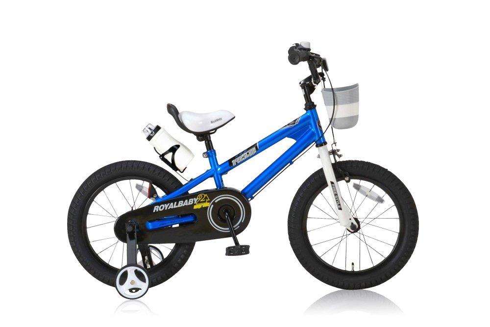 ROYALBABY(ロイヤルベイビー) 子ども用自転車 16インチ RB-Freestyle BMXスタイル フルカバーチェーンケース リアバンドブレーキ 取っ手付きサドル ブルー   B00Q7R3T6W