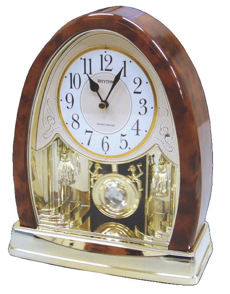 Joyful Crystal Bells Mantel Clock by Rhythm Clocks - 2010 by Rhythm USA