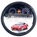 Alpena 10214 Black Leather Steering Wheel Cover