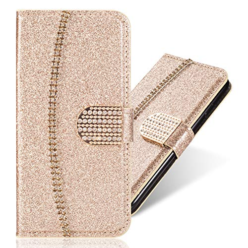 - Diamond Flip Wallet Case for iPhone XS Max 6.5