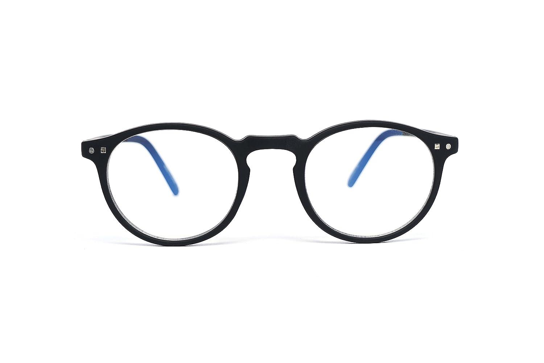 FEEGOO Reading Glasses Men/Women Unisex Prescription +1.0 Dioptres, Super Light Thin Small Round Frame Tortoise Colour