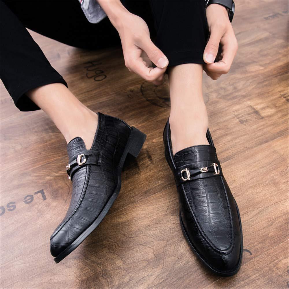 Für die neue beiläufige Mode 2018, Geschäfts Oxford beiläufige neue Abnutzungs Breathable Art britische Art formale Schuhe der Männer Schwarz 906aef