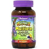 Bluebonnet Nutrition Rainforest Animalz Whole Food Based Multiple Chewable Tablet, Kids Multivitamin & Mineral, Vitamin C, D3