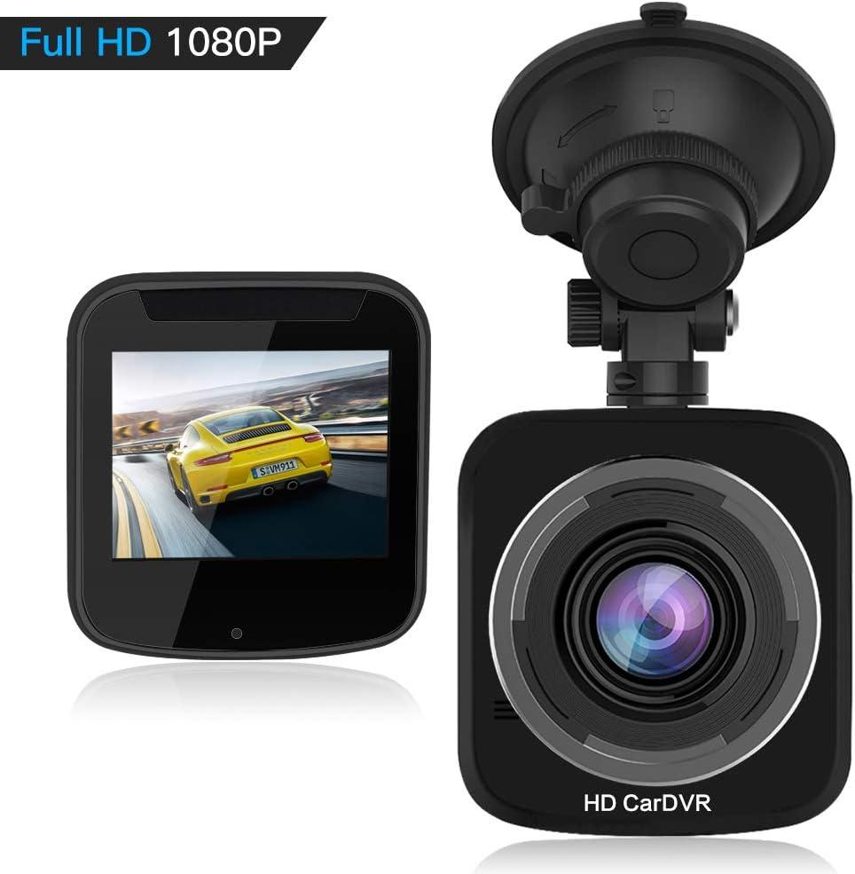 angolo di rotazione HQBKing DashCam 1080P Full HD DVR con sensore G per visione notturna rilevazione di movimento a 360/° Videocamera magnetica per cruscotto auto