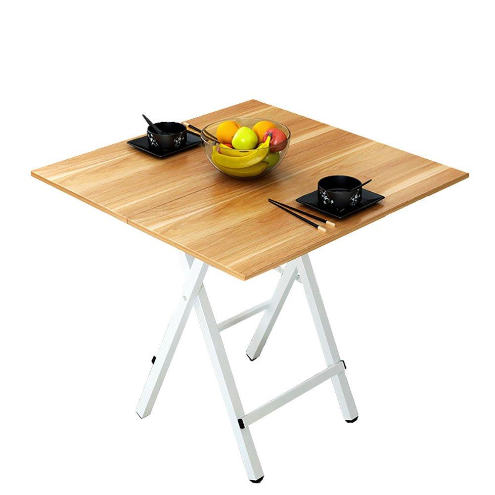 JU FU Piccolo Pieghevole in Legno - Cucina e Tavolo da Pranzo da Campeggio da Giardino Portatile - Quadrato Pieghevole - tavolino da caffè - con Piedini in Metallo Senza necessità di InsDimensionezione