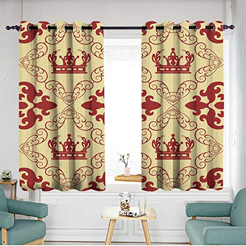 (home1love Grommet Window Curtains Space Decorations W 72