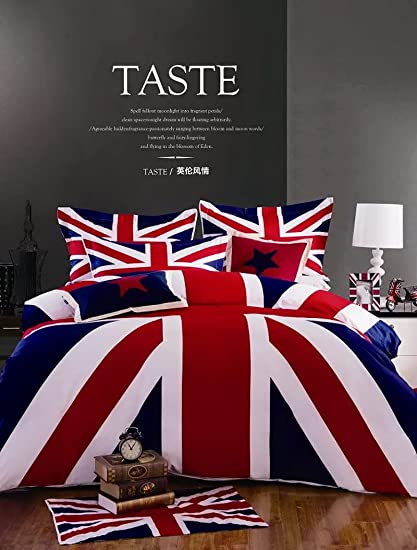 the union jack blue bedding holiday bedding christmas bedding gift idea - Christmas Bedding Holiday Bedding