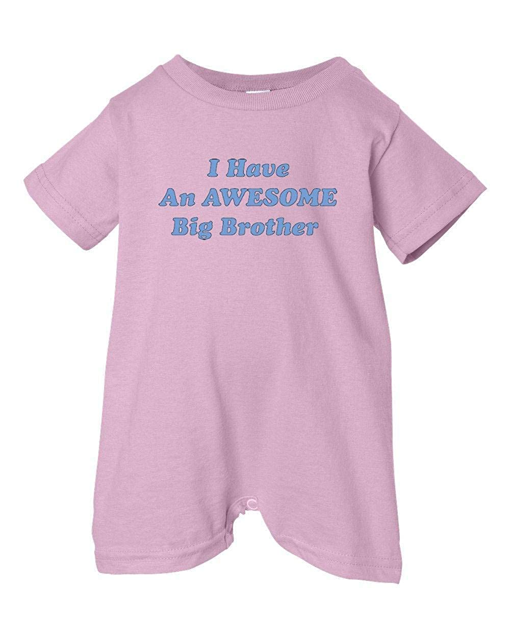 Unisex Baby I Have An Awesome Big Brother T-Shirt Romper So Relative Pink, 24 Months