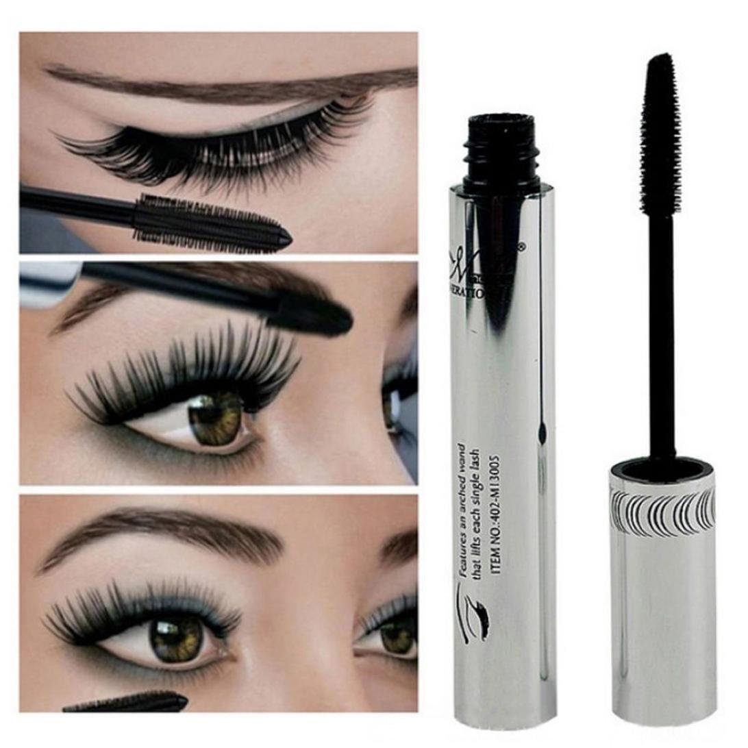 TONSEE Eye Lashes Makeup Waterproof Long Eyelash Black Silicone Brush Head Mascara