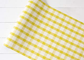 "product image for Hester & Cook Paper Table Runner 20"" x 25' Roll - Yellow Painted Check"