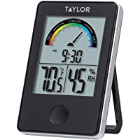Taylor Precision Products 1732 Taylor Digital Indoor Comfort Level Thermometer and Hygrometer, Black