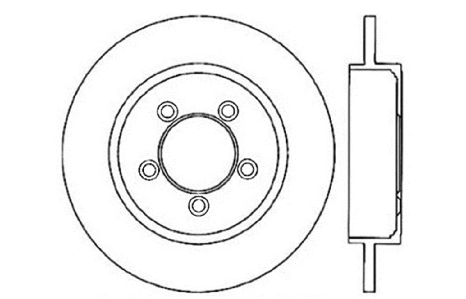 Rear Left StopTech 127.65071L Sport Drilled//Slotted Brake Rotor 1 Pack