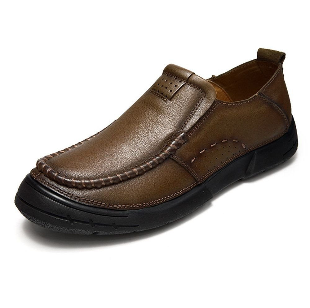 Men 's casual hombres zapatos de cuero, zapatos de cuero,Khaki,Treinta y ocho 38|Khaki Khaki