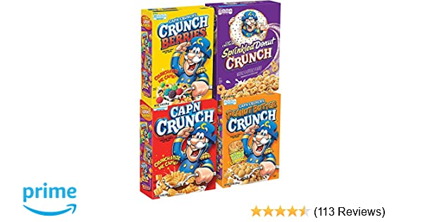 Cap'N Crunch Breakfast Cereal, Variety Pack, 14 oz (4 Count)