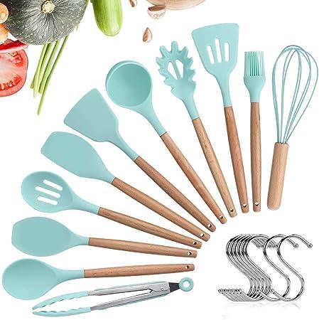 11 Stück Silikon Hitzebeständig Küchengeräte Küchenutensilien Werkzeuge