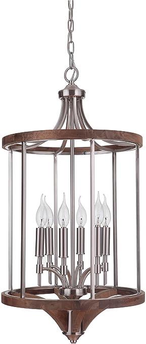Amazon.com: Craftmade 40336-bnkwb Tahoe 6 luz vestíbulo ...