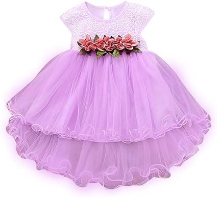 Toddler Baby Girl Summer Floral Tutu Dress Princess Party Wedding Tulle Dress FI