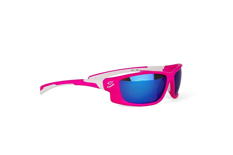 Spiuk Spicy - Gafas de Ciclismo Unisex, Color Rosa Mate/Blanco Spiuk Sportline