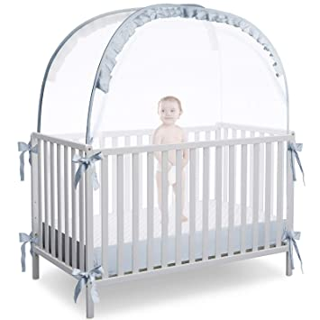 Pop up Nursery Mosquito Net to Keep Baby from Climbing Out,Protect Your Baby from Falls and Bite L RUNNZER Baby Safety Crib Tent