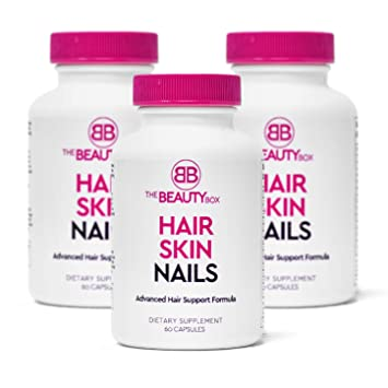 The Beauty Box Hair Skin And Nails Supplement With Biotin To Grow Faster Healthier Thicker Hair And