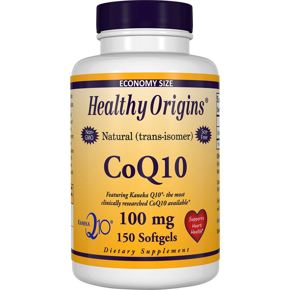Healthy Origins Kaneka CoQ10 Gels, 100 Mg, 150 Count by Healthy Origins
