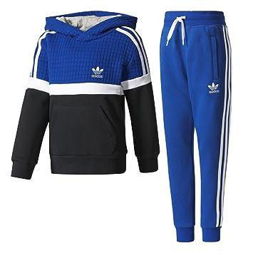 adidas L TRF FL HFL Sudadera, niños, Azul (tinmis/Blanco/Negro), 116: Amazon.es: Deportes y aire libre