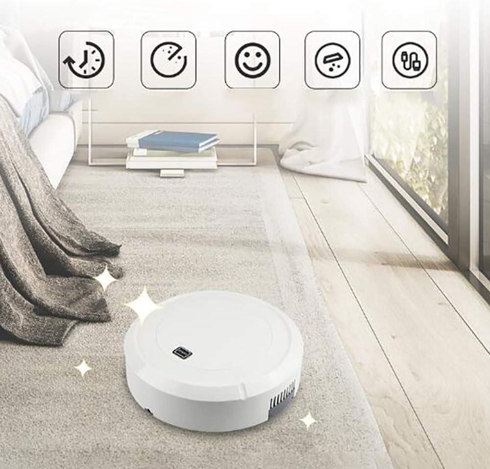 LAHappy Aspirateur Robot Laveur avec Forte Puissance d\'aspiration, idéal pour Animaux, capteurs de poussière, Parfait sur Tapis et sols,Noir Black