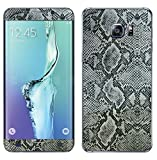 Decalrus - Samsung Galaxy S6 Edge+ Edge PLUS Silver Python skin pattern Texture skin skins decal for case cover wrap PYgalaxyS6edgePlusBlack