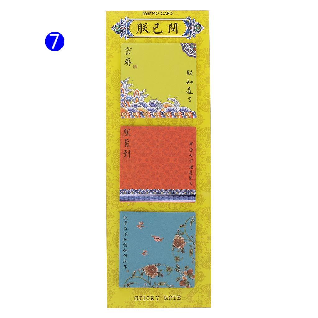 2 Notas adhesivas Manyo Blocs de notas Pegatinas Papeler/ía escolar de oficina Bloc de notas de papel vintage