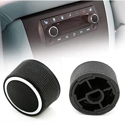 2 Rear Control Knobs Audio Radio for 07-13 Buick Escalade Enclave Tahoe Chevrolet GMC Pair Set 22912547 (Black): Automotive