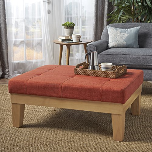Gerstad Ottoman Coffee Table Mid Century Danish Modern Styling Upholstered In Muted Orange Fabric Buy Online In Dominica At Dominica Desertcart Com Productid 81339903