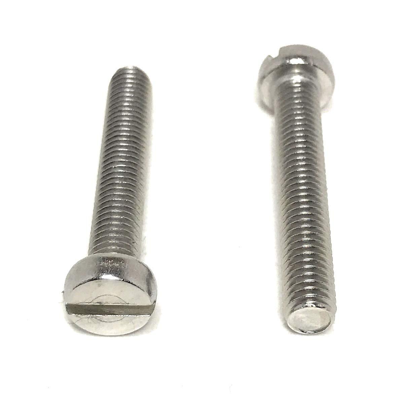 "10-32 x 1//4"" Round Head Machine Screws Slotted Steel Zinc Plated 125 Pcs USA"