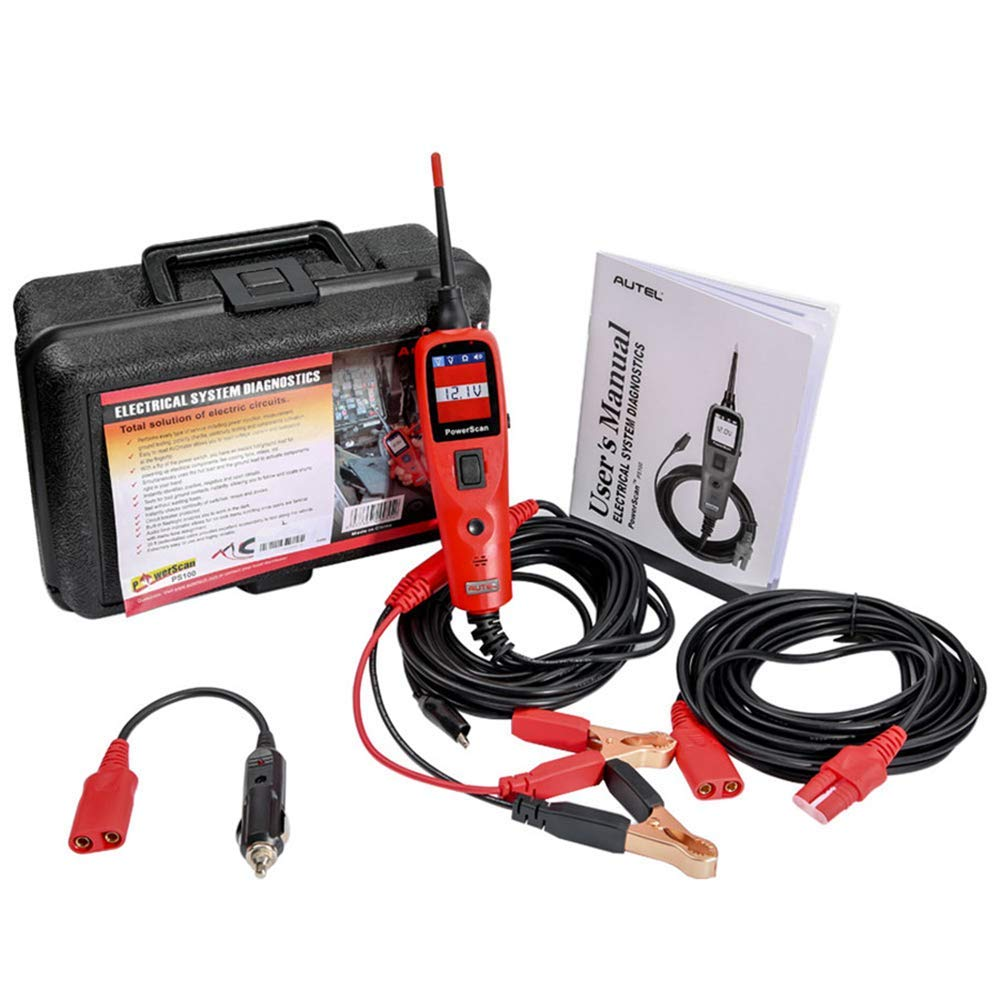Autel Powerscan PS100 Automotive Electrical Circuit System Diagnosis Tool Car Circuit Tester Digital Volmeter Red