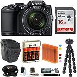 Nikon COOLPIX B500 Digital Camera w/Sony 16GB Memory Card & Secure Digital Reader USB Accessory Bundle