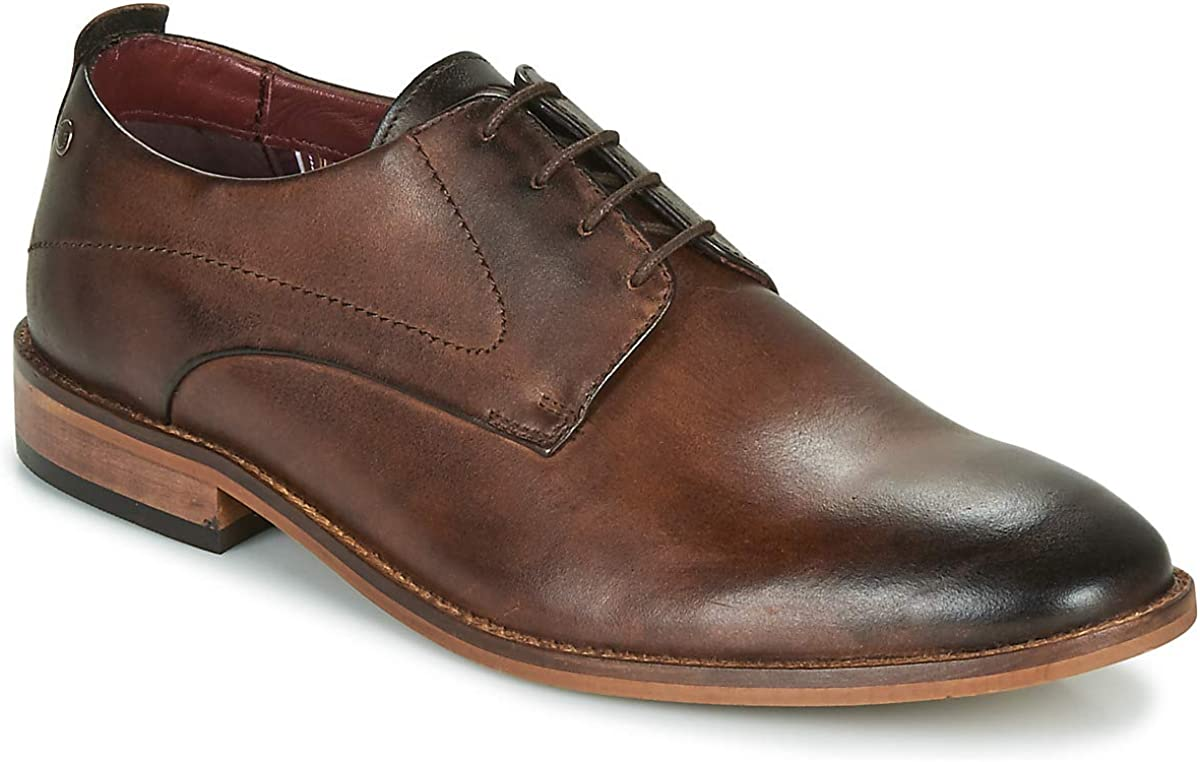 Base London Business Men/'s Suede Leather Smart Classic Formal Dress Shoes Brown