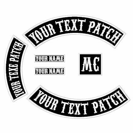 8e83ae54128 Amazon.com  6 Pack Custom Embroidered MC Biker Patches