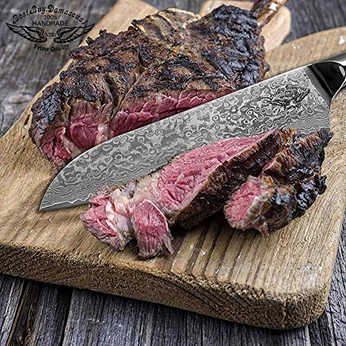 Santoku Chef knife 8 inch Best Quality Japanese VG -10 Super Steel 67 Layer High Carbon Stainless Steel, Incredible G10 Handle, Full-tang, Razor Sharp Chef Blade Kitchen Carving fillet chefs knives by Best.Buy.Damascus1 (Image #5)