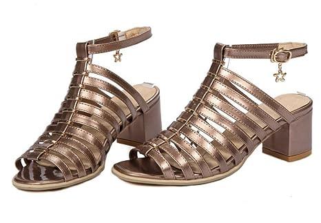 6bd33cd92 XIE Sandalias de Mujer tacón Alto cinturón Fino Zapatos Romanos ...