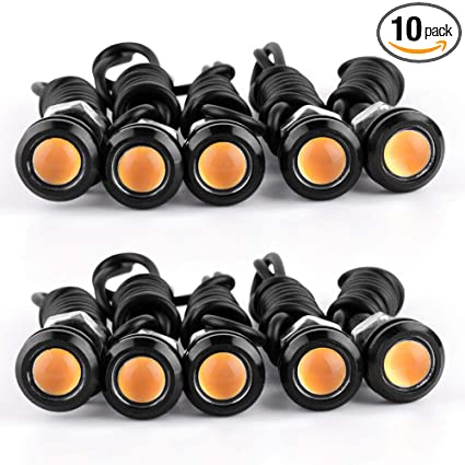 10pcs Waterproof 18mm 9w Cob White Led Eagle Eye Car Fog Drl Turn Signal Light Be Friendly In Use Accessories