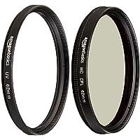 AmazonBasics Circular Polarizer Camera Photography Lens - 62 mm & UV Protection Camera Lens Filter - 62mm