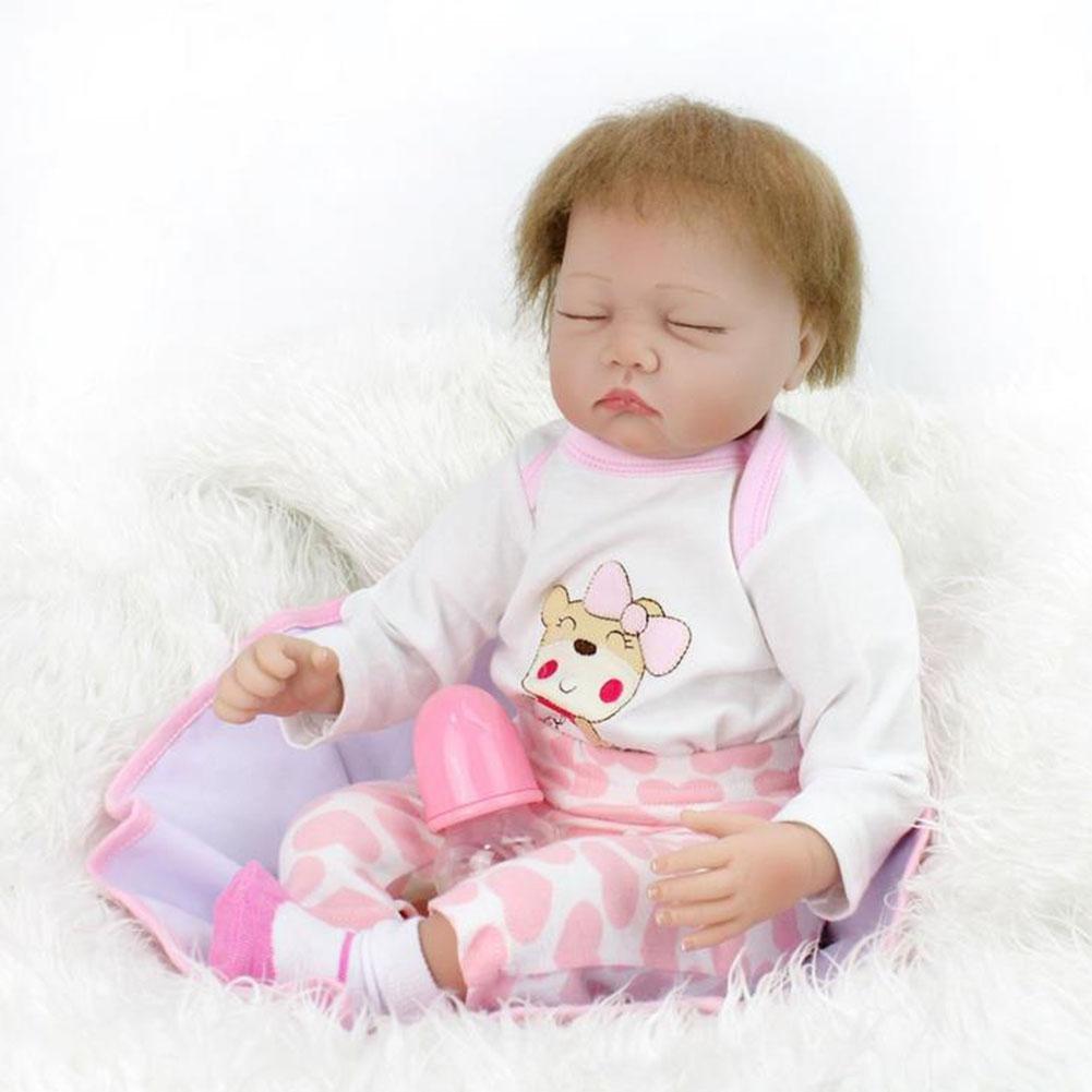 SHTWAD Bebé Reborn con ImáN Chupete Silicona PañO Cuerpo ...