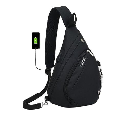 SINOKAL Sling Bag Chest Shoulder Backpack Casual Crossbody Shoulder  Triangle Packs Daypacks for Men Women Canvas 455ba035b575