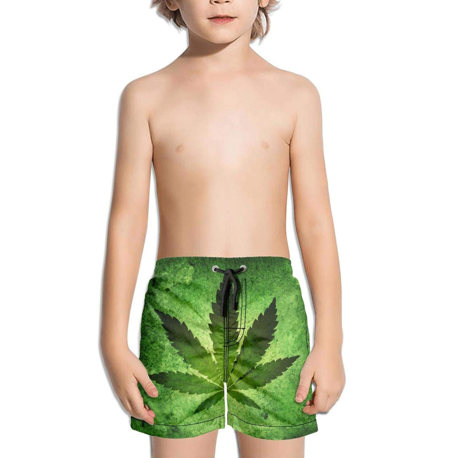 JIONONDS 420 Cannabis Culture Poster Kids Quick Dry Slim Fit Absorbent Swimming Trunks Shorts