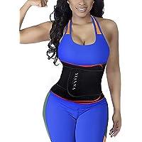 YIANNA Waist Trimmer for Women/Men, Back Double Support Waist Trainer Sweat Belt