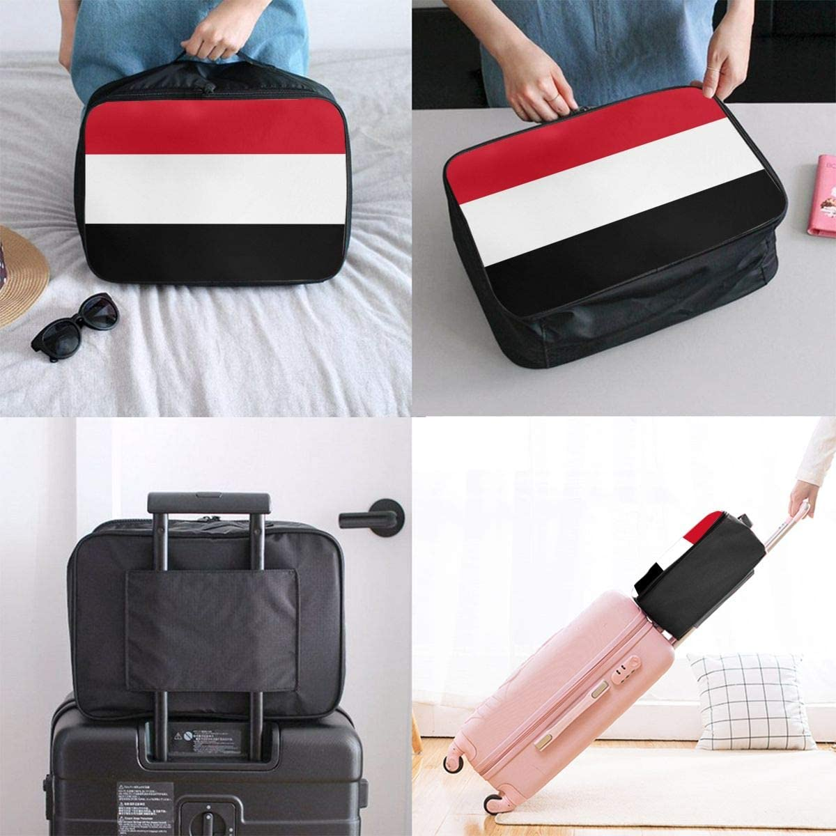 Hgfhgdf Flag of Yemen Travel Bags for Fitness Enthusiasts Travel