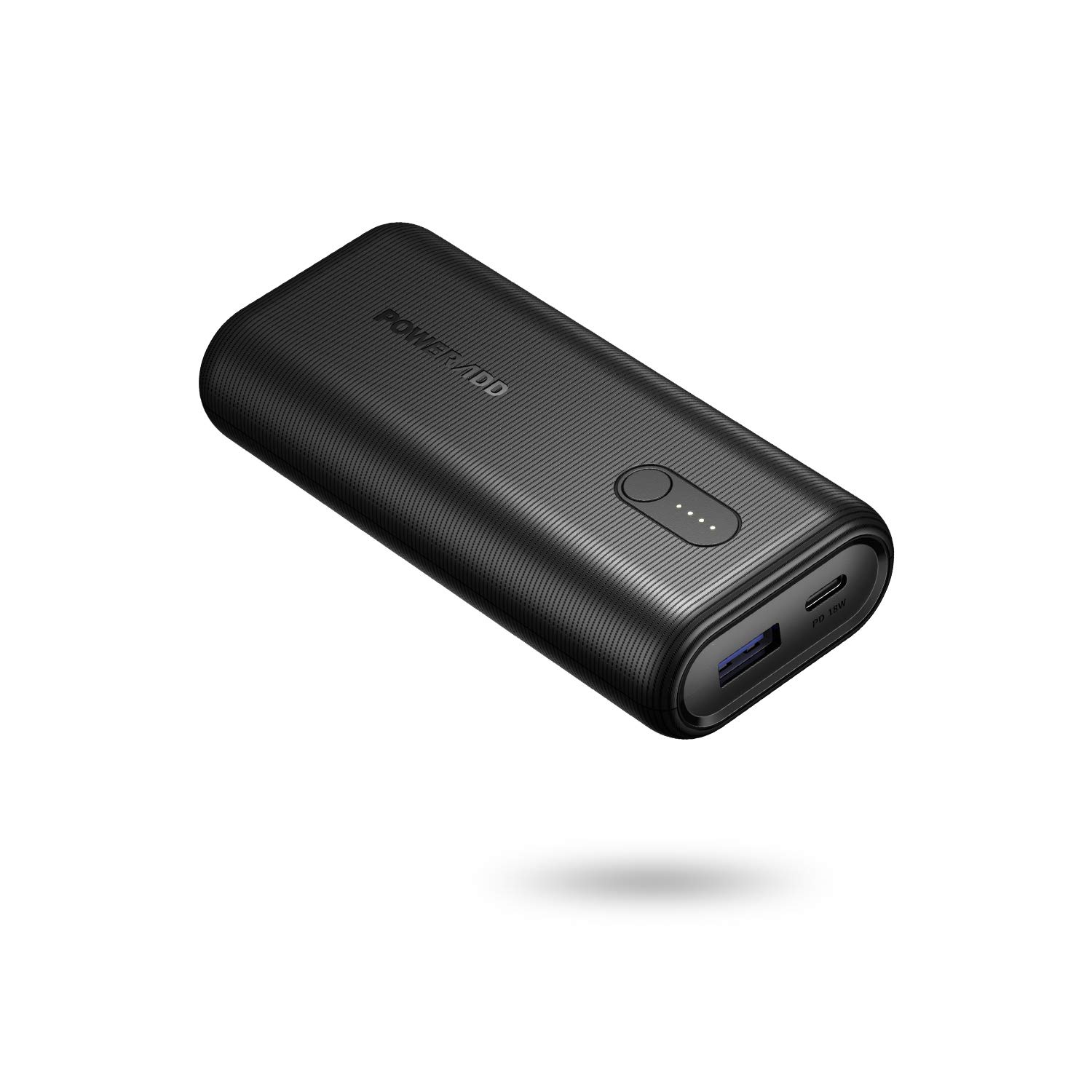 POWERADD EnergyCell Power Bank 10000 PD, Powerbank con Power Delivery 18W USB-C + USB Uscita da 10000 mAh, Ricarica Rapida per iPhone 8/11/11Pro/X/XS/XR, Samsung S10/S9/S8, iPad PRO 10.5/11 e Altri