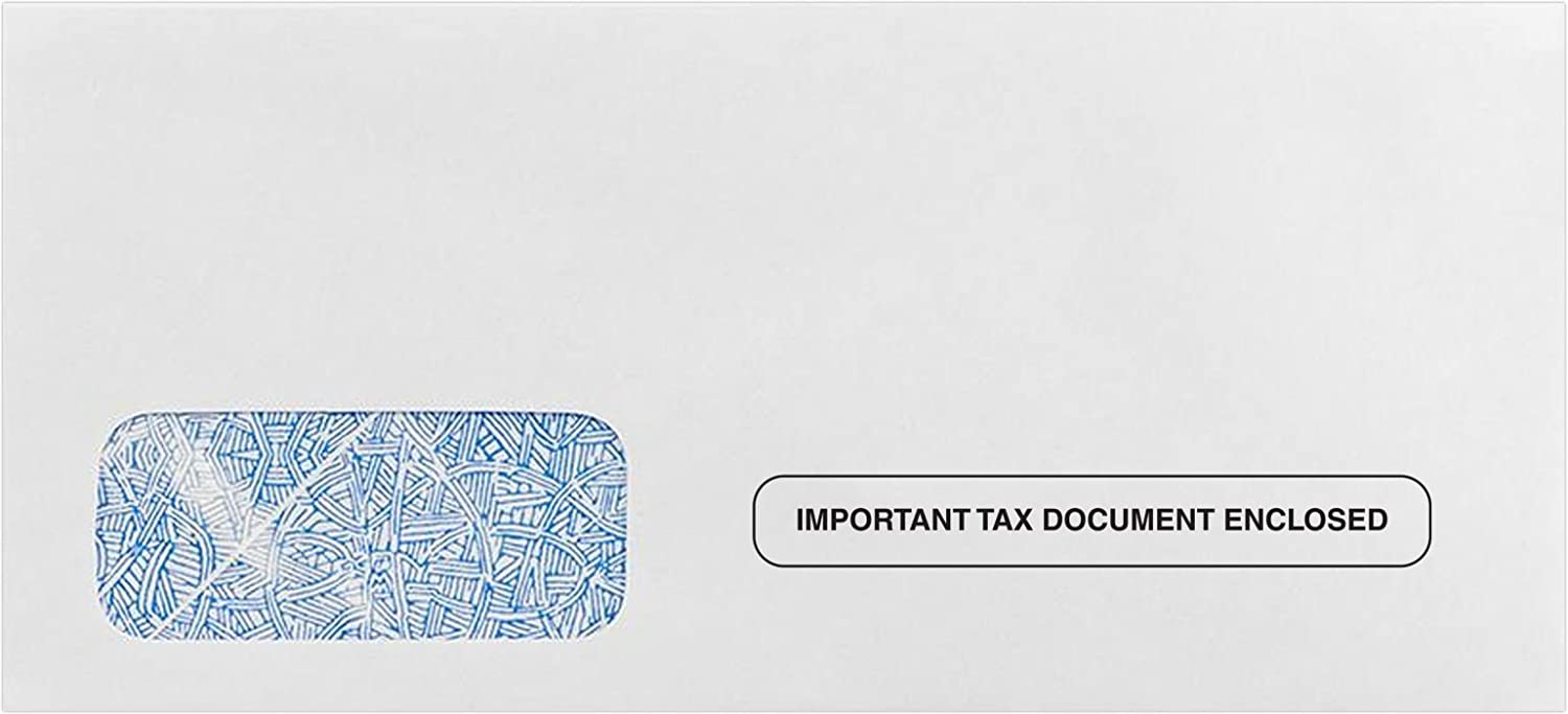 - 24lb W-2//1099 Envelopes White w//Wesco Security Tint Important Tax Document Enclosed Design | Secure and Easy Way to Send 2-Up W2 Tax Forms 7485-W2-50 50 Qty. 5 3//4 x 9 1//4