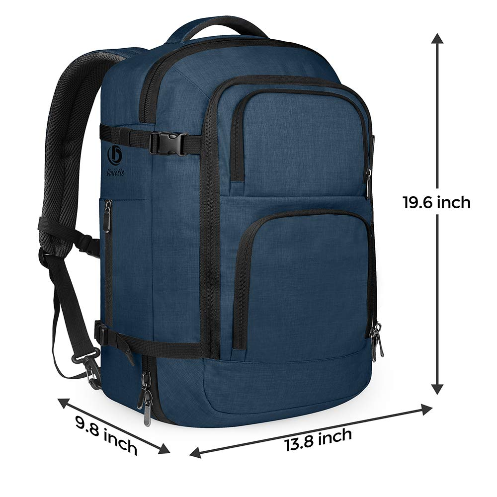 Dinictis 40L Flight Approved Travel Backpack, Waterproof Business Carry on Backpack fit 15.6 Inch Laptop, Durable Weekender Bag for Men and Women (Blue) by Dinictis (Image #5)